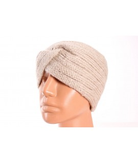Dámska pletená čelenka (B-13) - béžová