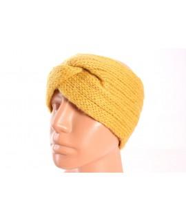 Dámska pletená čelenka (B-13) - okrová