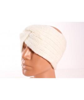 Dámska pletená čelenka (B-13) - krémová