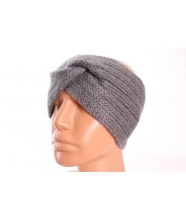 Dámska pletená čelenka (B-13) - sivá