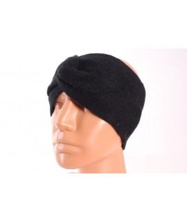 Dámska pletená čelenka (B-15) - čierna
