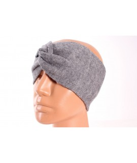 Dámska pletená čelenka (B-15) - sivá