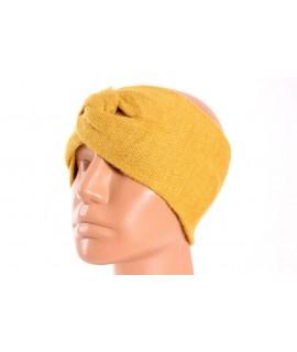 Dámska pletená čelenka (B-15) - okrová