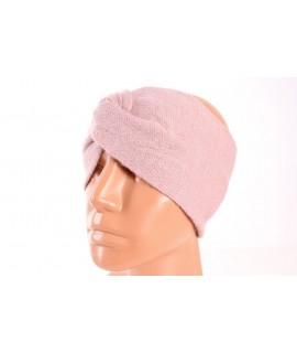 Dámska pletená čelenka (B-15) - staroružová