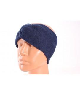 Dámska pletená čelenka (B-15) - tmavomodrá