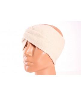 Dámska pletená čelenka (B-15) - béžová