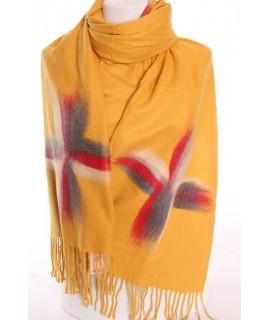 Dámsky šál (5878) - žltý (70x190 cm)