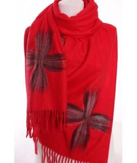 Dámsky šál (5878) - červený (70x190 cm)