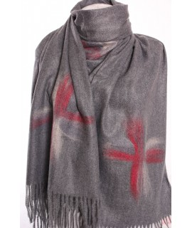 Dámsky šál (5878) - sivý (70x190 cm)