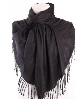 Dámsky šál (32843) - čierny (70x180 cm)