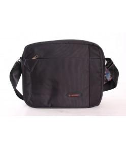 Pánska taška cez plece BESTITALIA (12325) - čierna (31x25x9 cm)