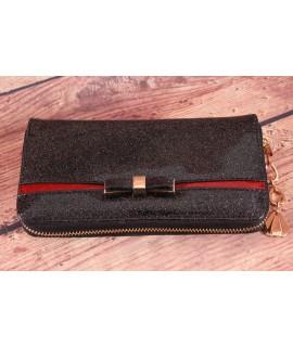 Dámska peňaženka ROMINA&CO (R150) - čierno-červená (19x10x2,5 cm)