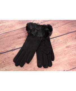 Dámske rukavice (7527) - čierne