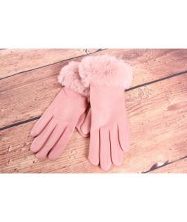 Dámske rukavice (7527) - bledoružové