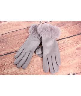 Dámske rukavice (7527) - bledosivé