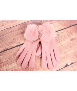 Dámske rukavice (7528) - bledoružové
