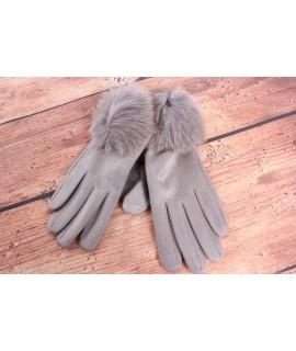 Dámske rukavice (7528) - bledosivé