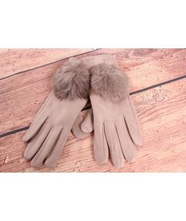 Dámske rukavice (7528) - béžové