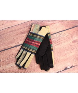 Dámske rukavice (7542) - žlto-čierne
