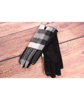 Dámske rukavice (7542) - bielo-čierne