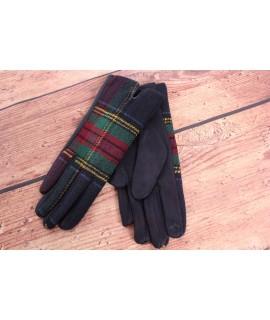 Dámske rukavice (7542) - zeleno-tmavomodré