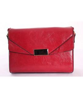 Dámska kabelka ANGELA - 0603 - červená (16x22x6 cm)