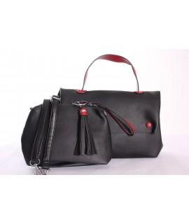 Dámska kabelka - čierna (20x30x11 cm)