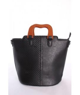 Dámska kabelka (7176) - čierna (26x23x17 cm)