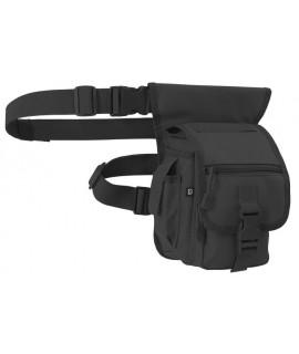 Brandit pánska ľadvinka s dvomi popruhmi na pás a nohu (28x16x12cm) - čierna