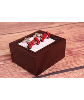 Manžetové gombíky - Motorka - červené