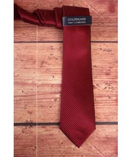 Pánska kravata -bordovo čierna (7,5cm)