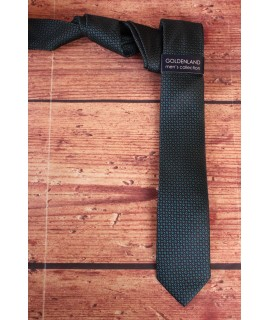 Pánska kravata - tyrkysovo čierna (5,5cm)