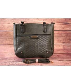 Dámska kabelka DUDLIN (8935-55) - zelená (38x30x11cm)