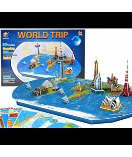 3D puzzle - World Trip - 136 prvkov