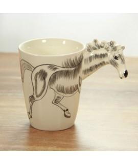 3D zvierací hrnček - kôň 400ml