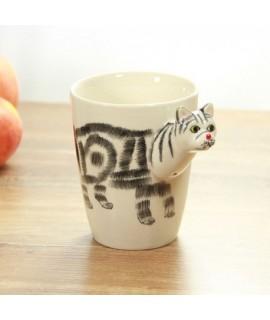 3D zvierací hrnček - mačka 400ml