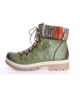 Dámska zateplená športová obuv Rieker (Y9432-52) - zelená 782d064d191