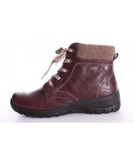 b398fa893 Dámske zateplené topánky na šnurovanie RIEKER (Z7112-35) - bordové