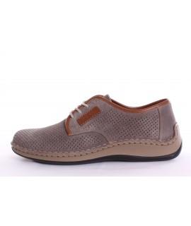 Pánska vychádzková obuv RIEKER (05206-42) - sivá