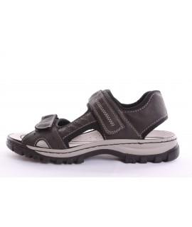 Pánske sandále RIEKER (25084-45) - čierno-sivé 613d71ed97f