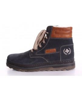Pánska zateplená obuv RIEKER (F4220-14) - modrá
