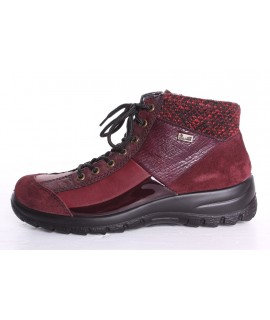 Dámska zateplená športová obuv RIEKER Tex (L7143-35) - bordová