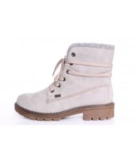 Dámska zateplená športová obuv RIEKER Tex (Y9144-41) - bledosivá