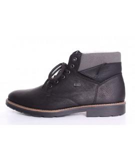 Pánska zateplená obuv na šnurovanie RIEKER Tex(35334-01) - čierna