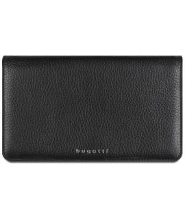 Dámska kožená peňaženka Bugatti 49610201 (19x2x11,2 cm) - čierna