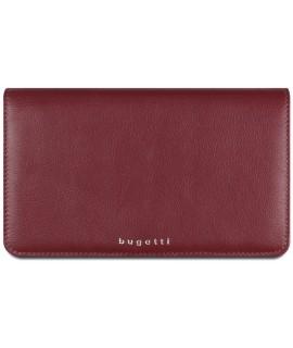 Dámska kožená peňaženka Bugatti 49610216 (19x2x11,2 cm) - červená