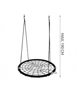 5641 Kruhová hojdacia sieť bocianie hniezdo čierna 100cm