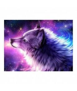 5D Diamantová mozaika - vlk Omega