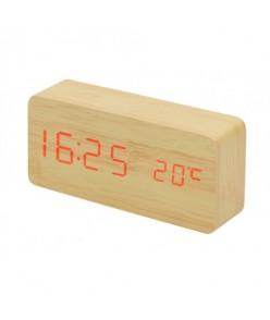 7037 Drevené LED hodiny