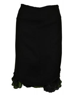Čierna sukňa s tylom